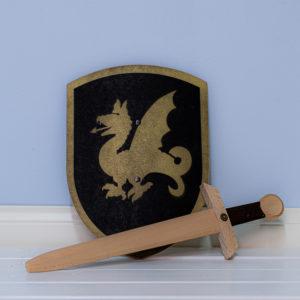 Ritarin kilpi ja miekka