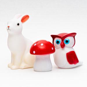 Pienet pupu, pöllö, sienivalot LED